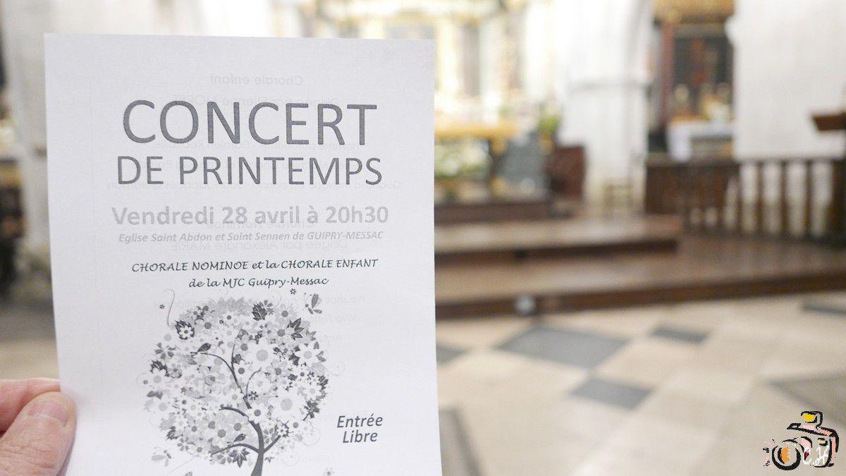 MJC:Le concert de Printemps de la Chorale NOMINOË