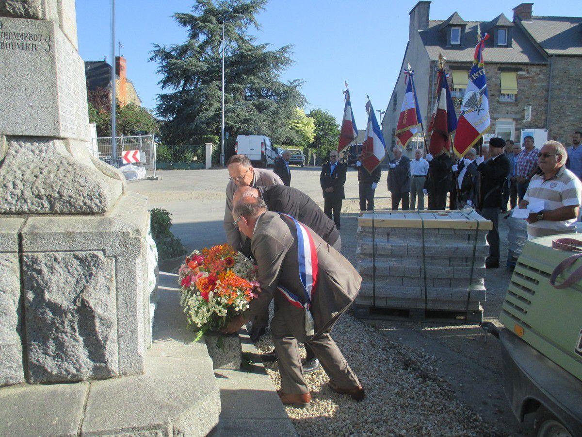 Guipry-Messac:Commémoration de l'appel du Général de Gaulle