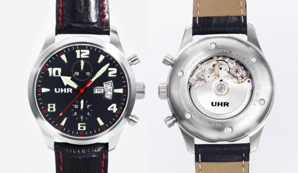 UHR, Modèle 353 à 599€ (VALJOUX 7750)