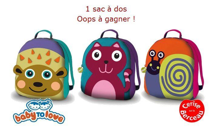 {Test et concours} Oops, le sac à dos des tout petits