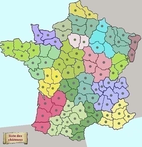Info carte de france agvec toute les eglises for B b france carte