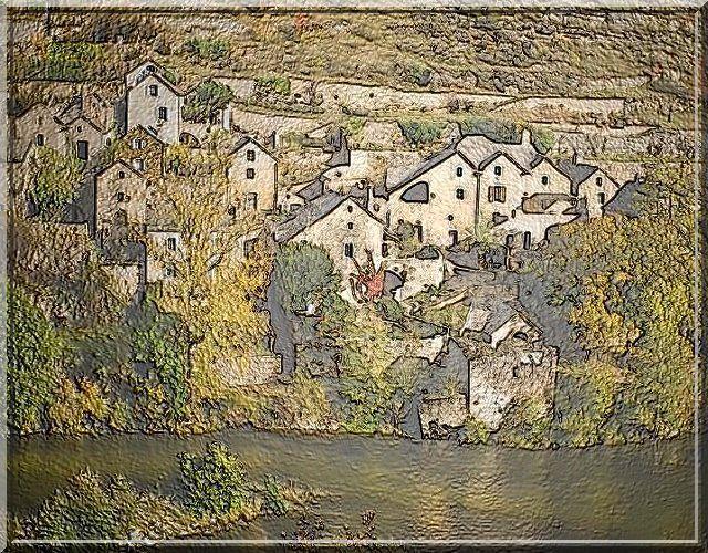Un hameau perdu sur l'autre rive du Tarn