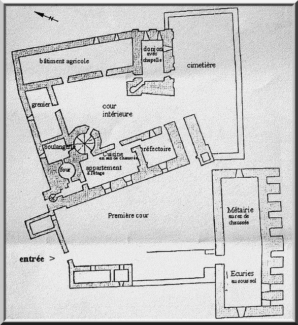 Plan de la commanderie des Templiers