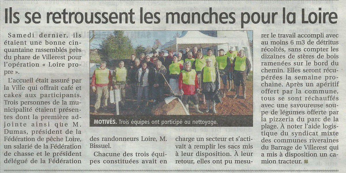 Le Pays Roannais - Jeudi 10 mars 2016 - Opération Loire propre - Villerest