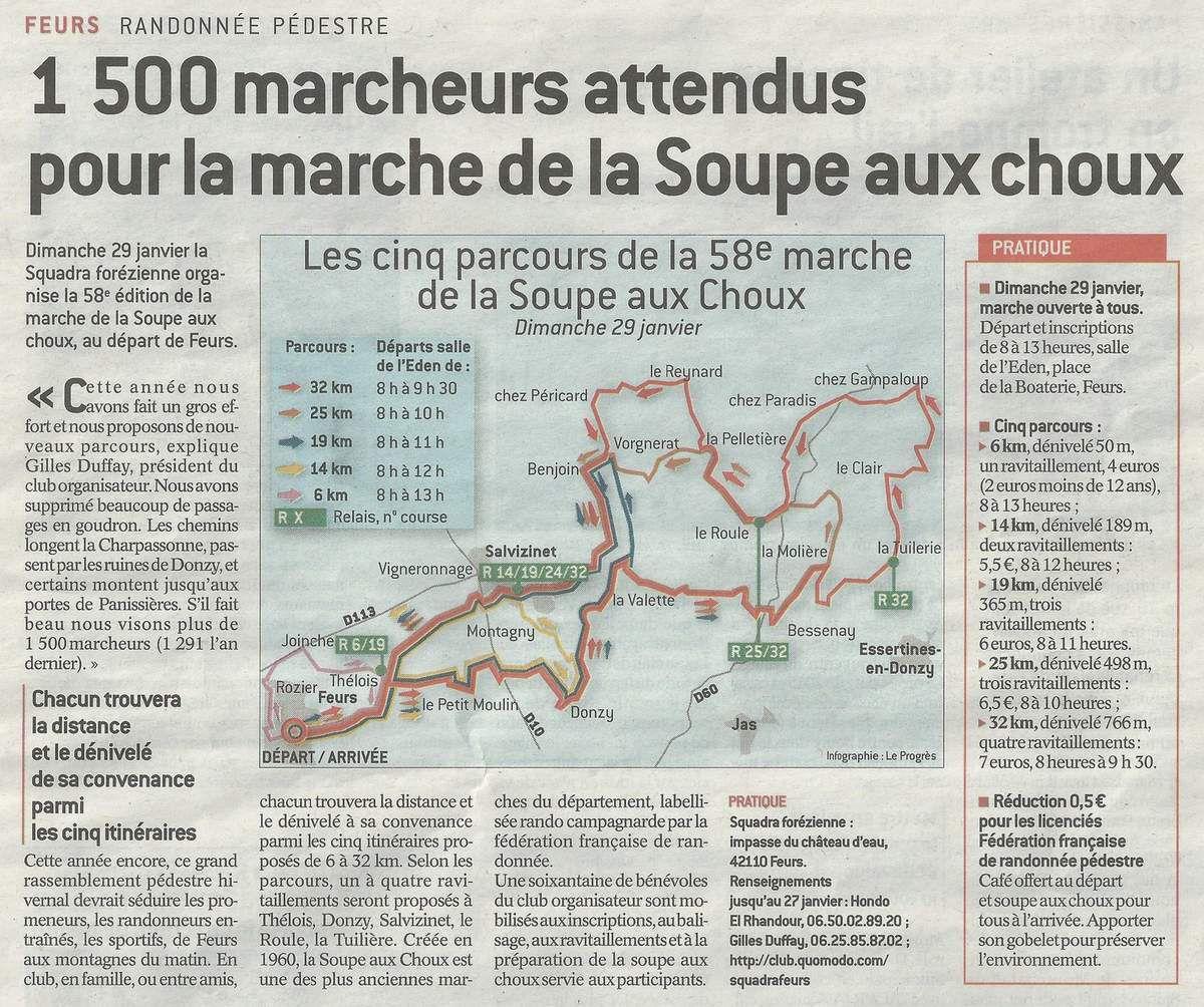 Le Progrès - Lundi 23.01.2017 - Marche de la Soupe aux Choux - Squadra Feurs