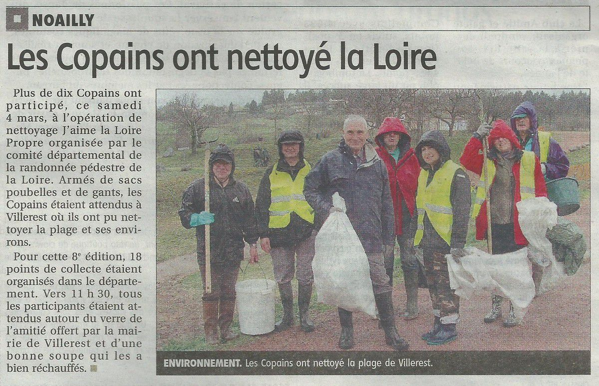 Le Pays Roannais - Jeudi 09.03.2017 - Loire propre - Les Copains de Noailly