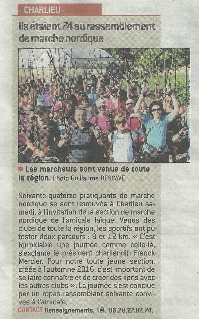 Le Progrès - Mardi 13.06.2017 - Marche nordique - Charlieu