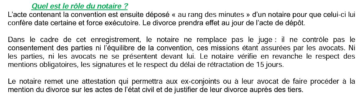 DIVORCE PAR CONSENTEMENT MUTUEL : LA MISSION INSIGNIFIANTE DU NOTAIRE