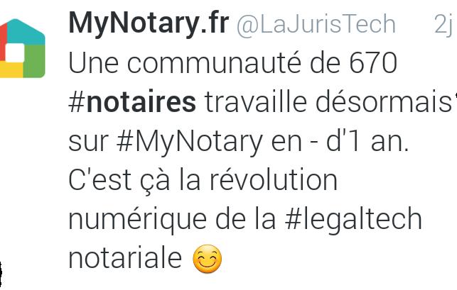 LA &quot&#x3B;REVOLUTION NUMERIQUE&quot&#x3B; DANS LE NOTARIAT N'EST PAS UNE FICTION !