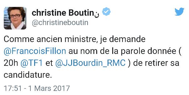 LA TRÈS CATHOLIQUE CHRISTINE BOUTIN LE LÂCHE AUSSI