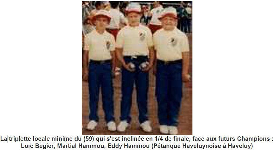Les Championnats de France Minimes et Cadets à Armentières (Nord) en 1987