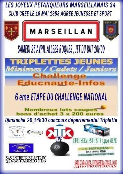 MARSEILLAN sera la 6ème étape le Samedi 25 Avril