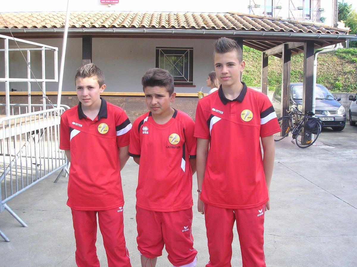 Adrien DELAHAYE, Bryan LAFLEUR, Aurélien MOTHES (Championnat Haute-Garonne Cadets)