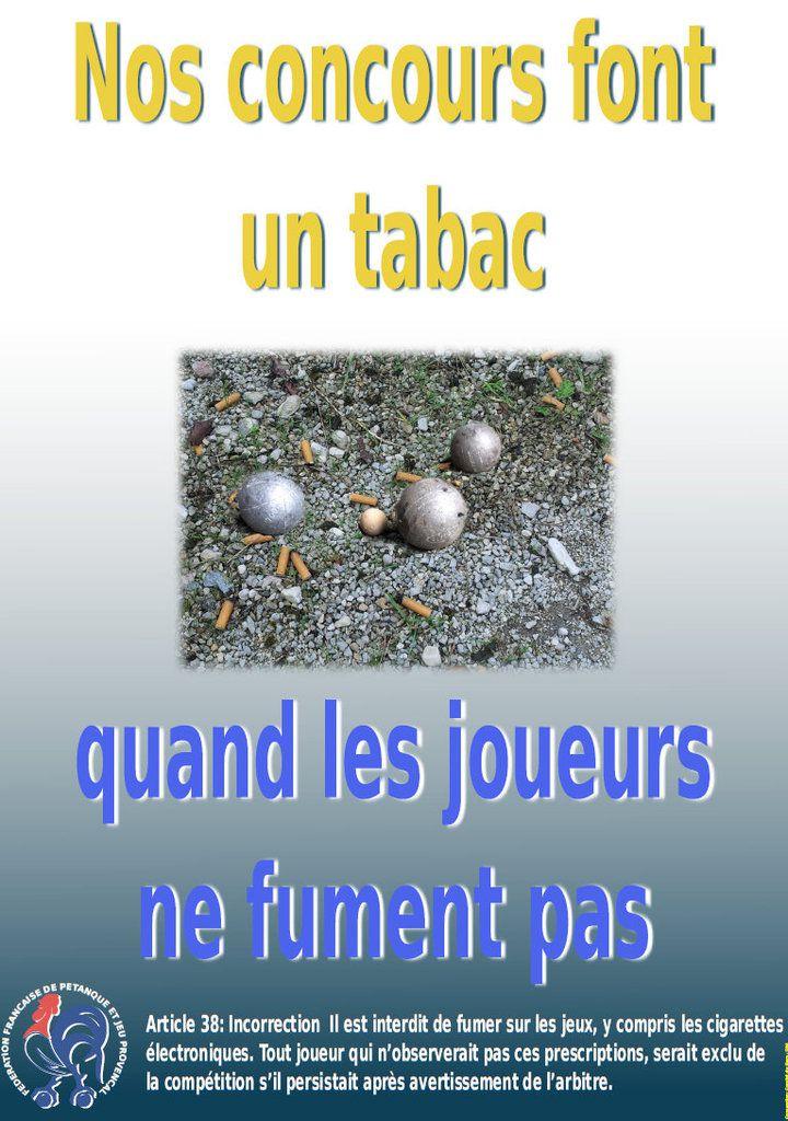 Trois AFFICHES dans les boulodromes  pour le respect du règlement ! (Art. 39) A FAIRE PARTAGER !!! !