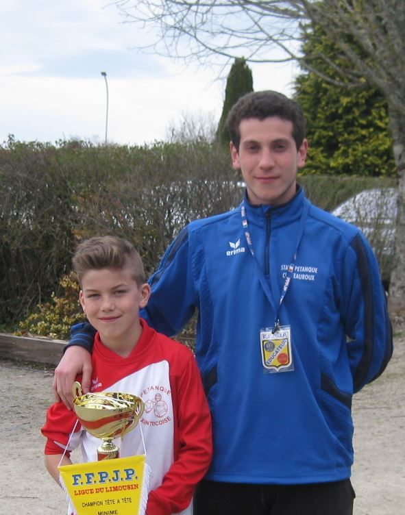 "Champion de Ligue Limousin Minime ""Tom LAMOURE"""