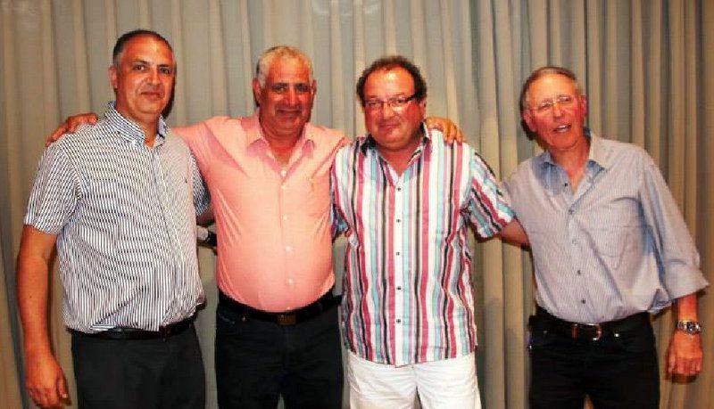 Avi NATIV, Roger BEN ZIKRI, Alain JUILLA, et le Président de la Fédération Emil KORDOVA