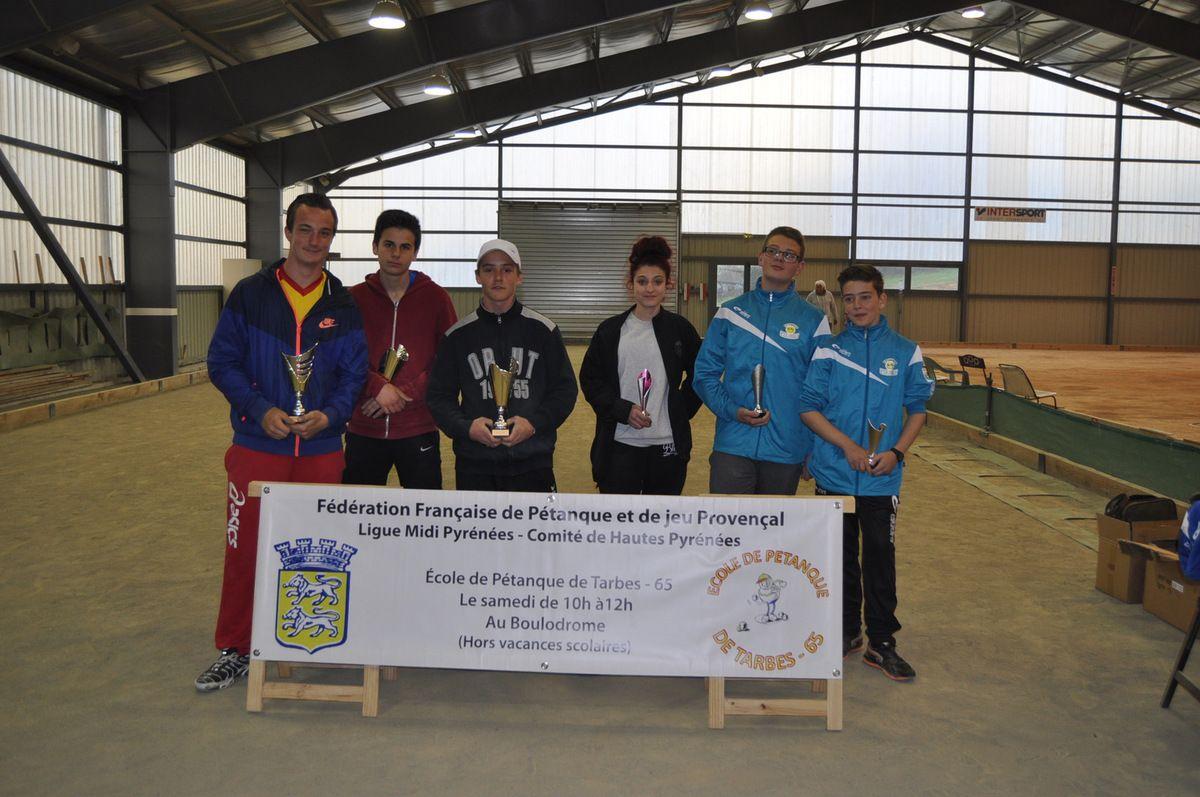 Championnat départemental en Triplette à Lannemezan le 17 Avril 2016