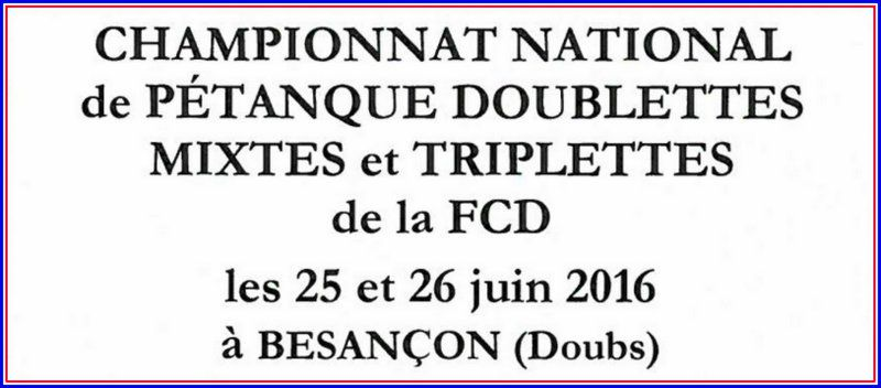 CHAMPIONNATS NATIONAL DE LA DEFENSE