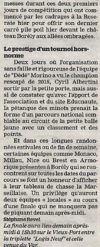 Coupures du Journal  sur LE MONDIAL LA MARSEILLAISE
