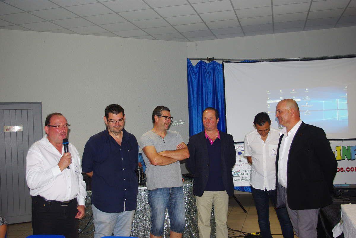 Réception de Mr Yves MICHEL Maire de MARSEILLAN pour l'Association EDUCNAUTE-INFOS