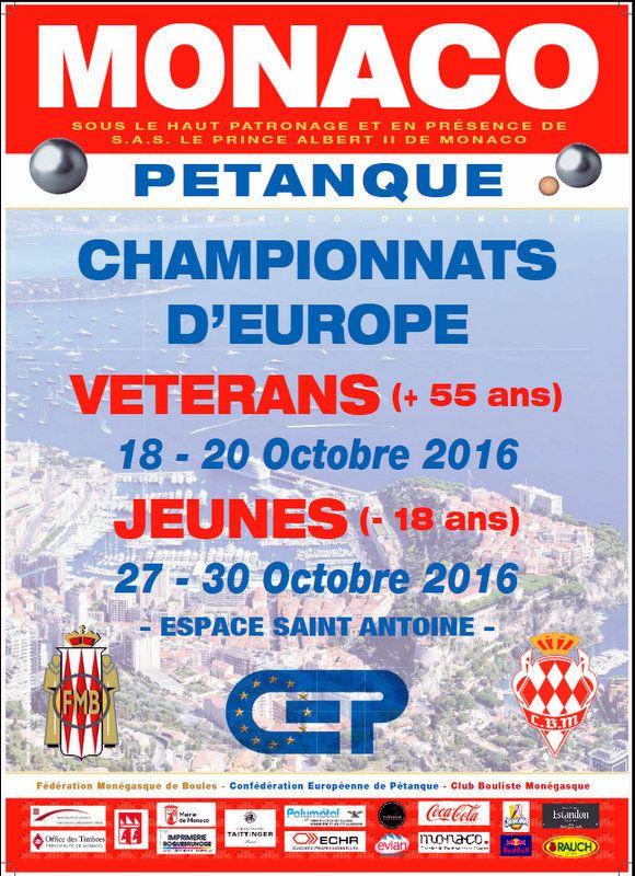 CHAMPIONNATS D'EUROPE JEUNES 2016 à MONACO : Le Programme, Le Direct &quot&#x3B;WEB TV&quot&#x3B;, Les Résultats, etc...