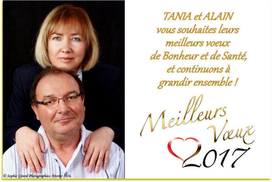 Alain JUILLA vous présente ses meilleurs vœux pour l'année 2017