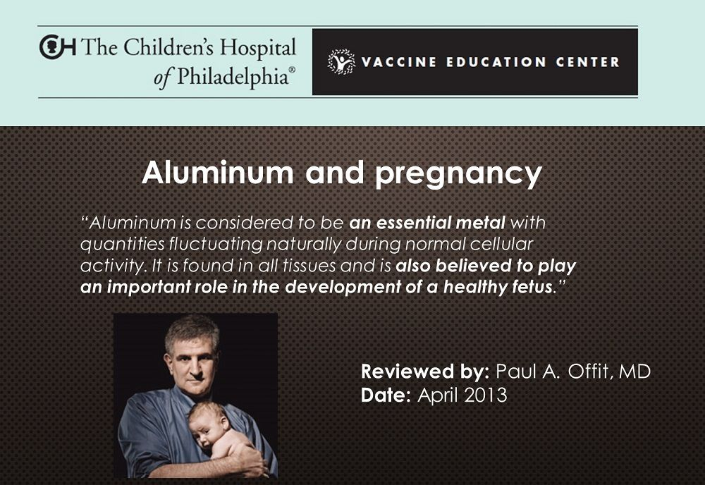 Une des diapositives de la conférence du Dr Humphries sur base de données figurant sur le site internet du Dr Paul Offit, de l' Hôpital des Enfants, Université de Pennsylvanie, Centre d'Education à la vaccination, Avril 2013.