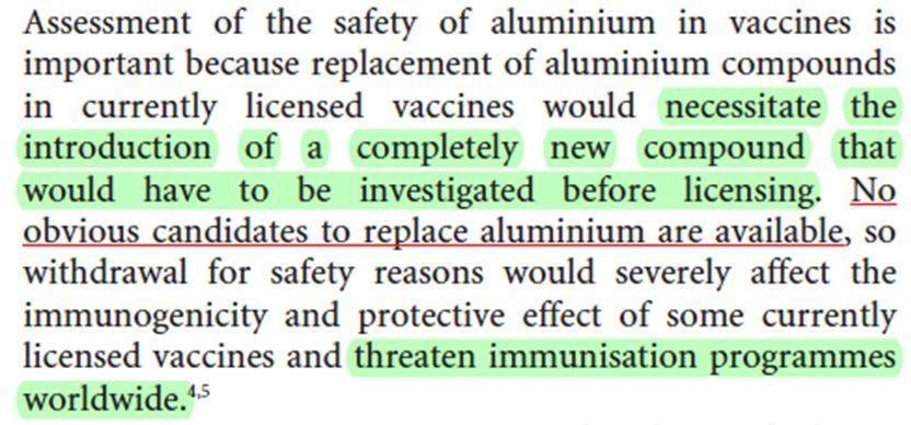 Effets secondaires après immunisation au moyen de vaccins DTC contenant de l'aluminium:revue systématique des preuves. Dr Tom Jefferson – The Lancet, Volume 4, N°2 p 84-90, février 2004