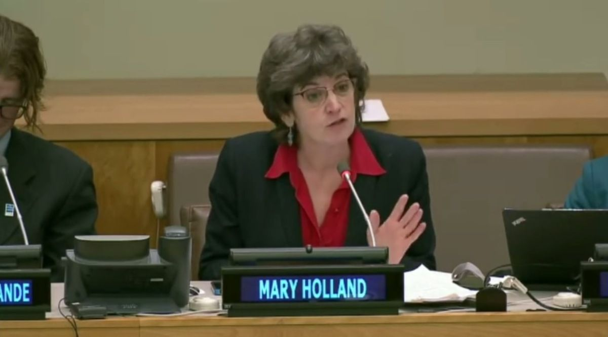 Mary Holland, prof de droit à l'université de New York interpelle les Nations-Unies sur les politiques vaccinales qui violent le Code de Nuremberg