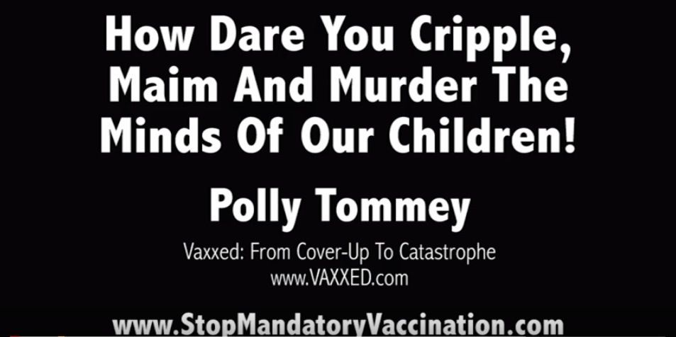 Polly Tommey: &quot&#x3B;Comment osez-vous mutiler, estropier et massacrer nos enfants?&quot&#x3B;