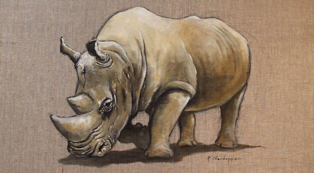 Cette peinture est exécutée sur une toile de lin sans traitement préalable, les couleurs sont terreuses.