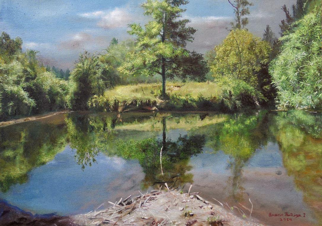 Dessin et peinture - vidéo 1592: Démonstration de la réalisation d'un paysage à la peinture à l'huile, en 7 vidéos - (3 vidéos) 2.