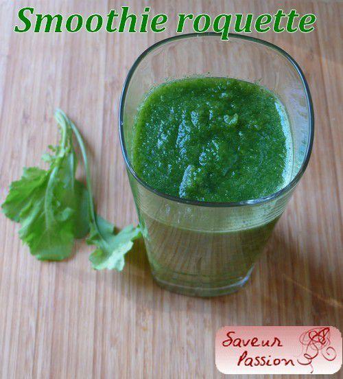 Semaine de détox et retour des smoothies verts : smoothies à la roquette