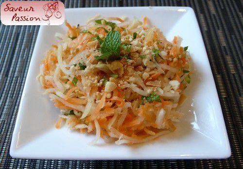 Salade de carotte et papaye verte  à la vietnamienne