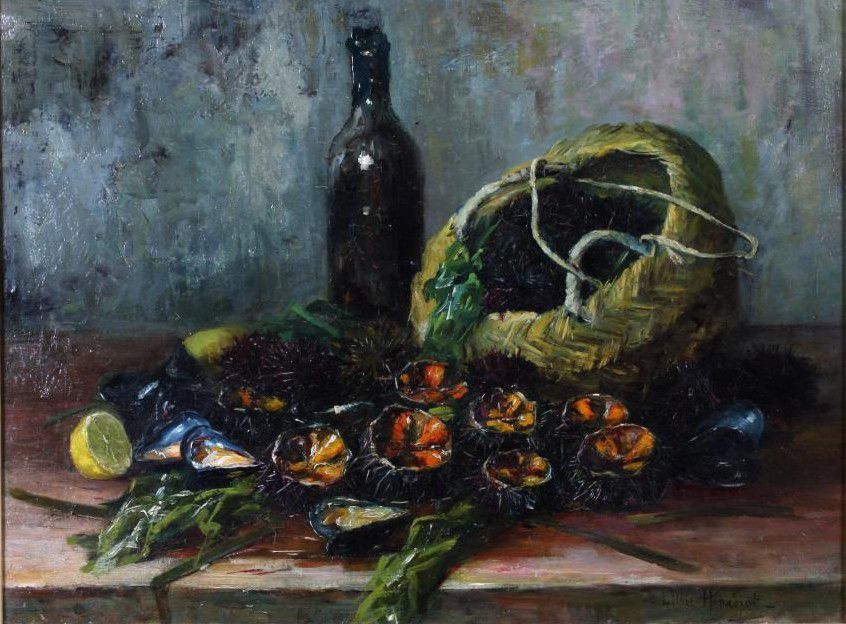Lillie Honnorat - nature morte aux oursins