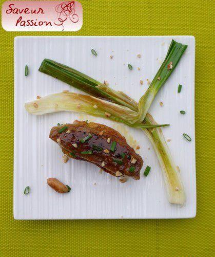 Foie gras laqué au miso
