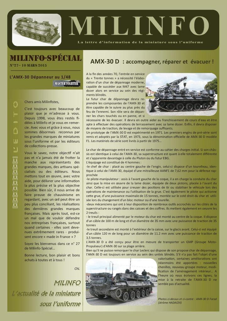 Milinfo-spécial n° 27 : AMX-30 D au 1/48 (Master Fighter)