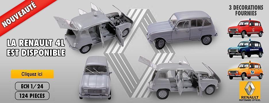Maquettes gendarmerie : Renault 4L au 1/24 et BMX R60-5 au 1/6(Heller)