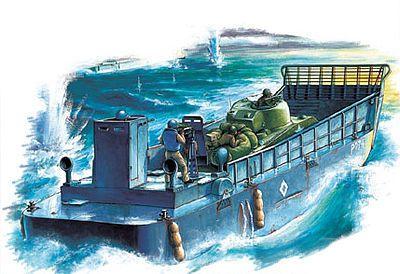 Pacific M25 avec barge de débarquement (par Carol Westerhoff)