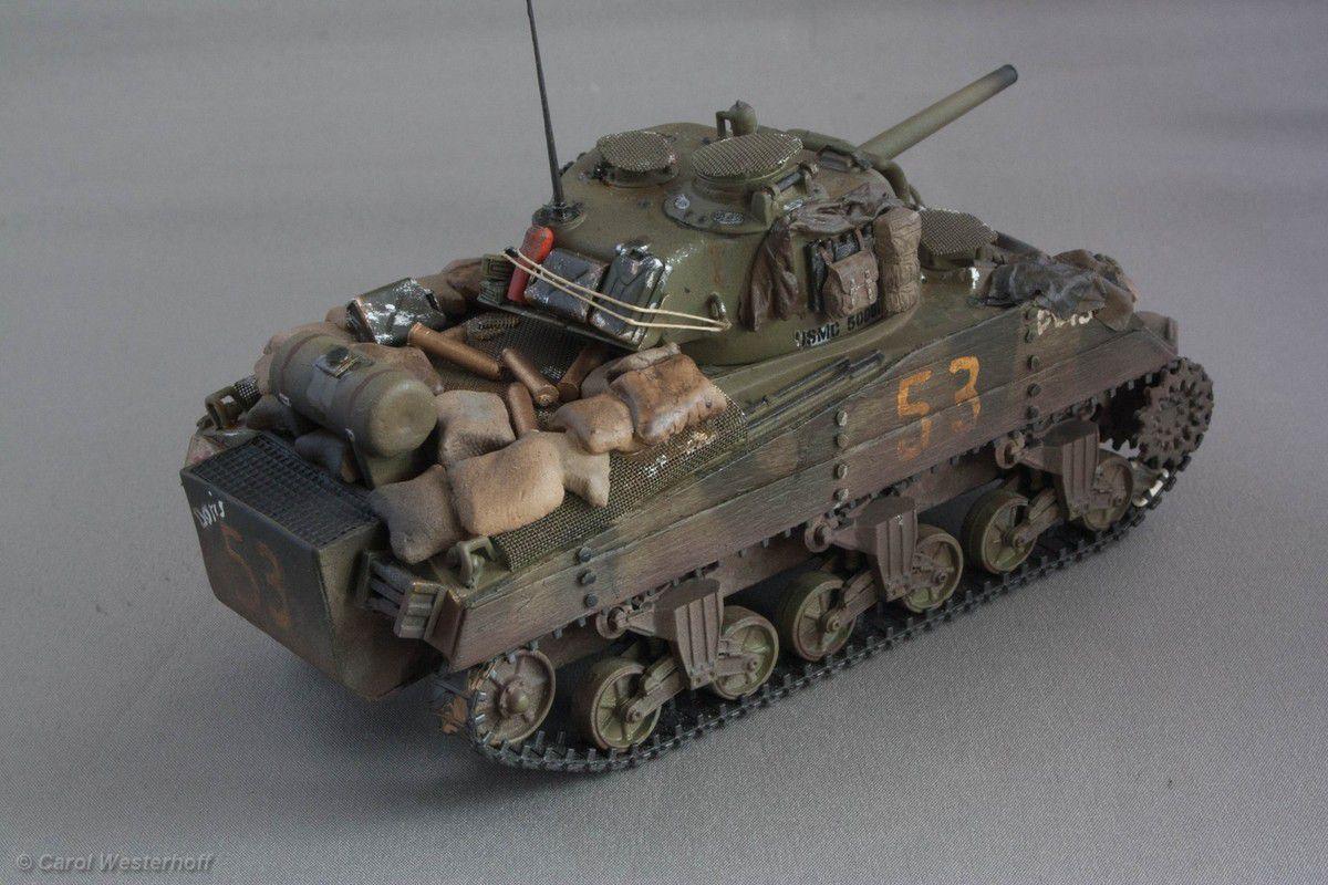 Sherman au 1/48 (par Carol Westerhoff)