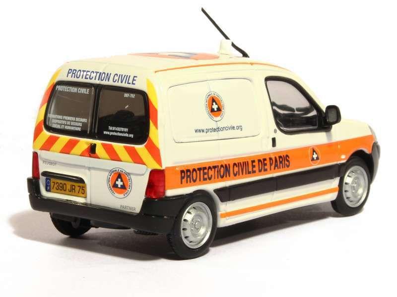 Peugeot Partner protection civile de Paris au 1:43 (Eligor)