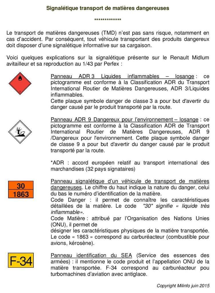 Renault Midlum Avitailleur de la Gendarmerie au 1/43 (Perfex)
