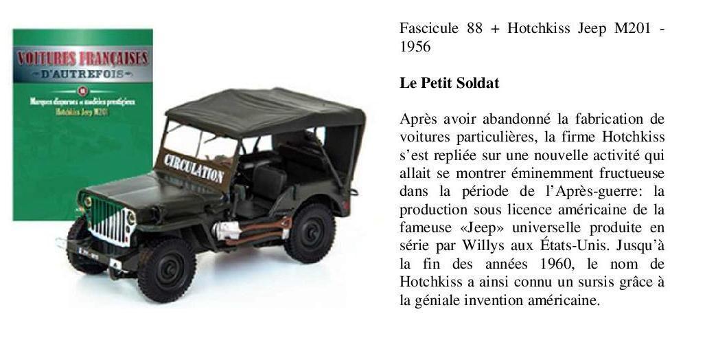 Jeep Hotchkiss M201 au 1/43 (Altaya/Ixo)