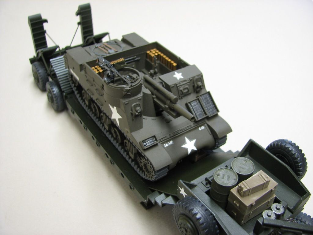 Char M7 Priest sur porte-char Pacific au 1/48 (Smith)