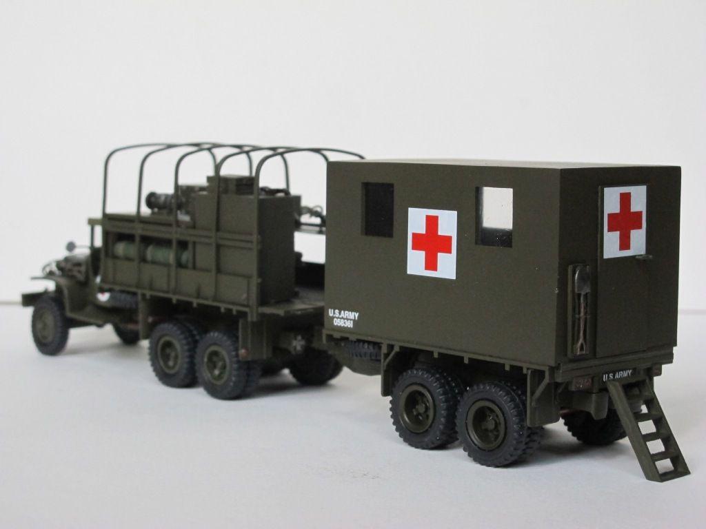 GMC CCKW 353 sanitaire avec remorque sur base Evergreen (par Florent Vasseur)(par