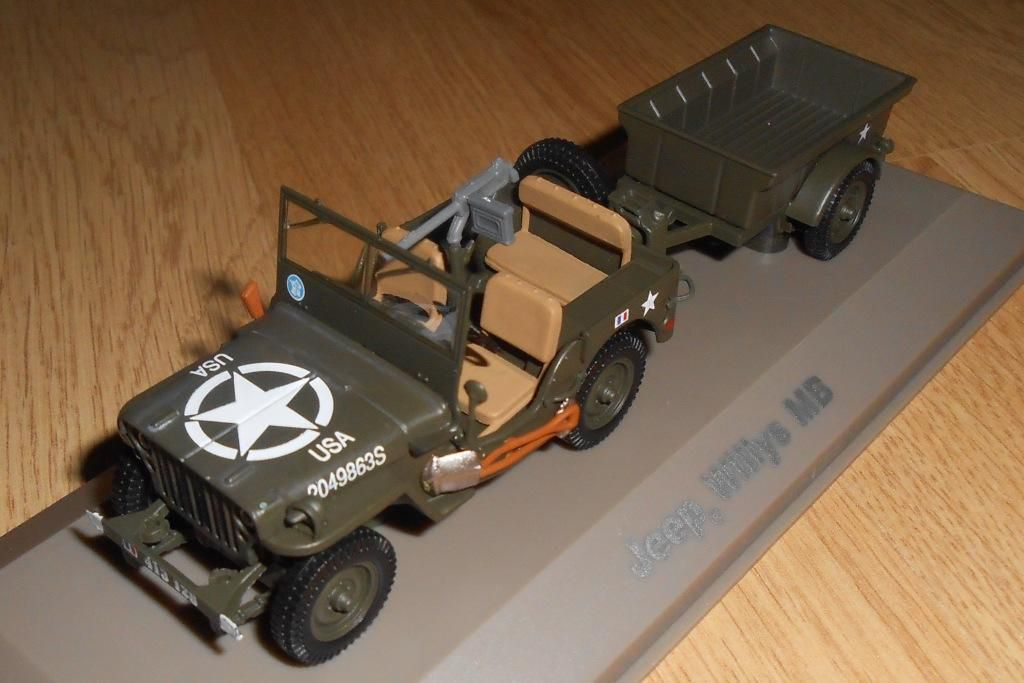 Jeep Willys MB de la 2ème DB au 1/43 (Atlas)