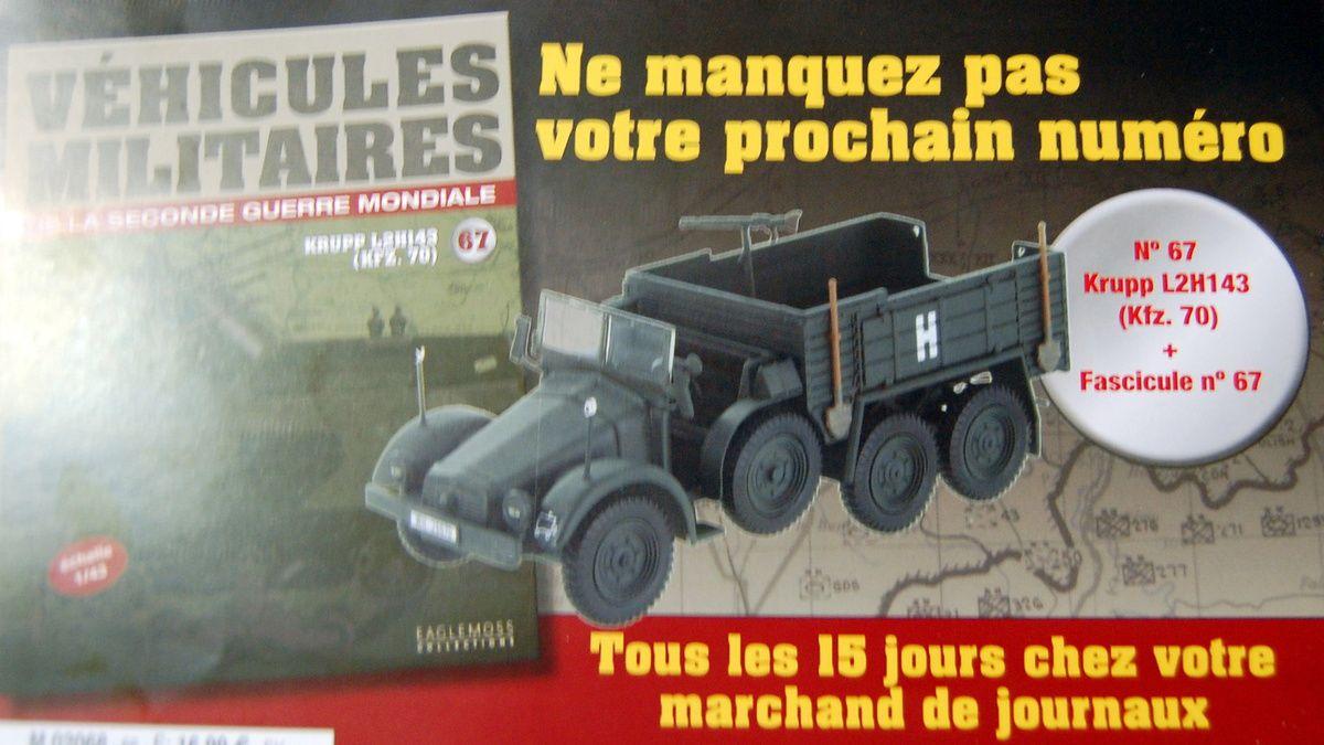 Collection-presse &quot&#x3B;Véhicules militaires de la Seconde Guerre mondiale&quot&#x3B; (Eagle Moss/Ixo)