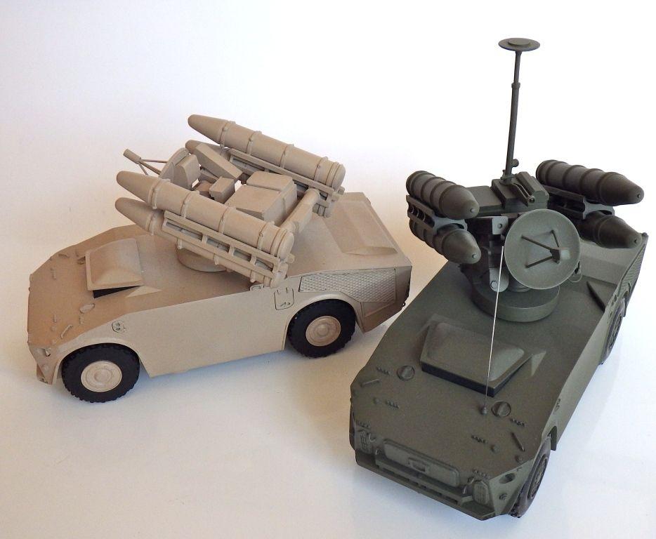 Système de missiles Crotale au 1/32 de chez Intermaquettes (par Jérôme Hadacek)