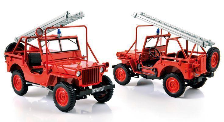 Jeep des sapeurs-pompiers des Bouches du Rhône au 1/18 (Solido)