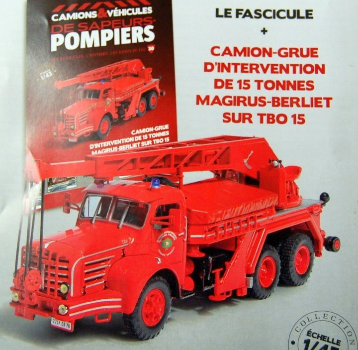 magirus berliet tbo 15 camion grue d 39 intervention au 1 43 hachette ixo. Black Bedroom Furniture Sets. Home Design Ideas